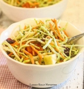 Broccoli Slaw with Chia Balsamic Vinaigrette - chia recipe