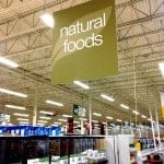 "Grocery store sign: ""Natural foods"""