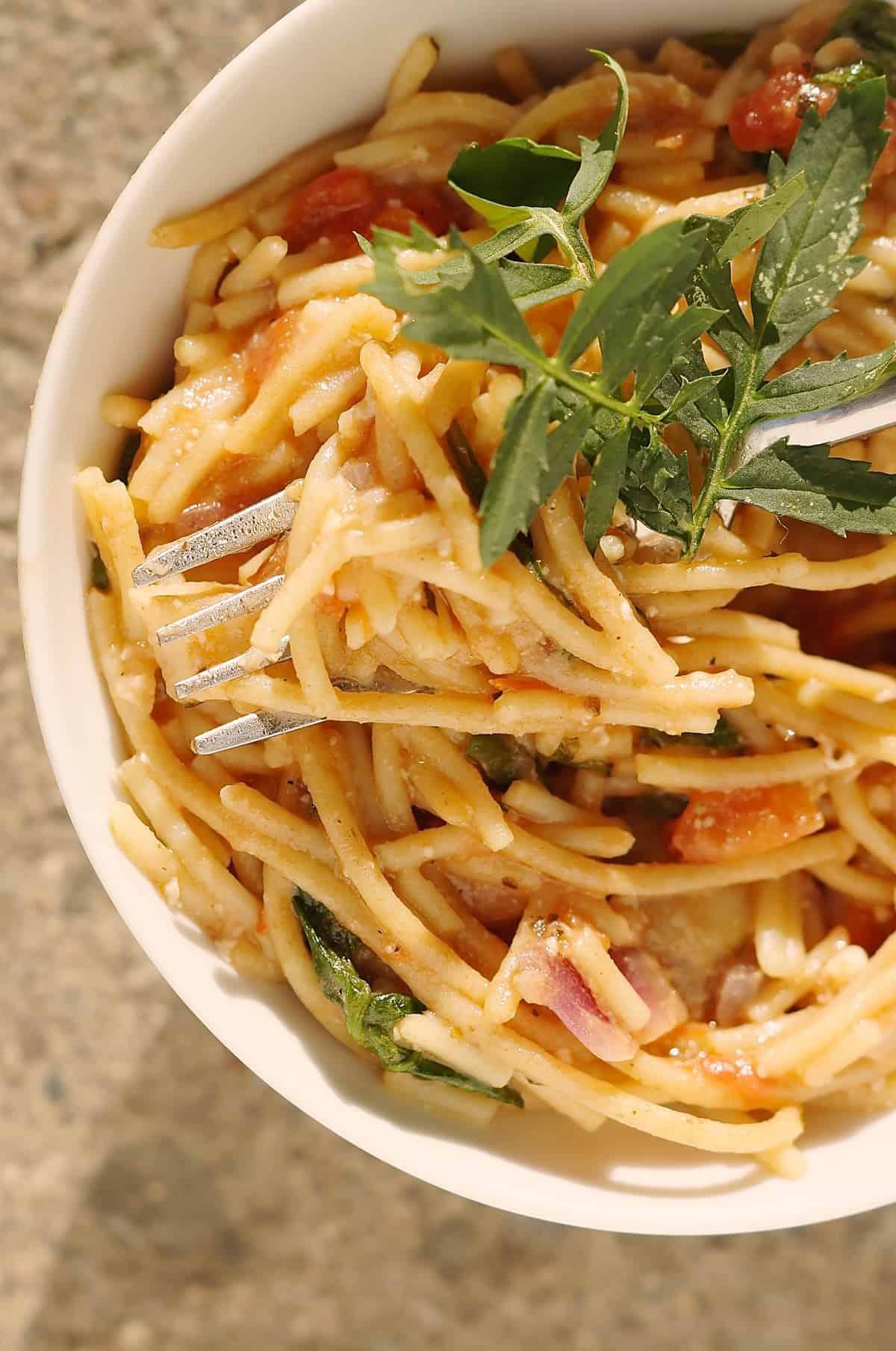 easy flavourful spaghetti