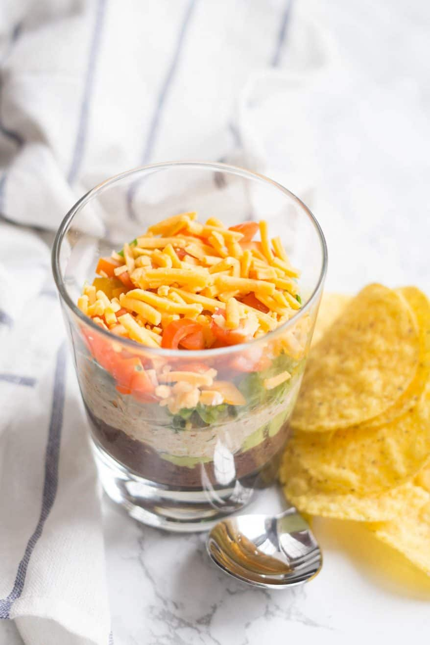 7 Layer Dip (healthy, easy, crowd favourite or eat for dinner!)