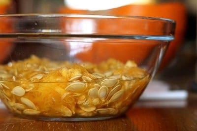 soaking pumpkin seeds
