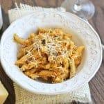 Creamy Pumpkin Pasta with Parmesan and Sage