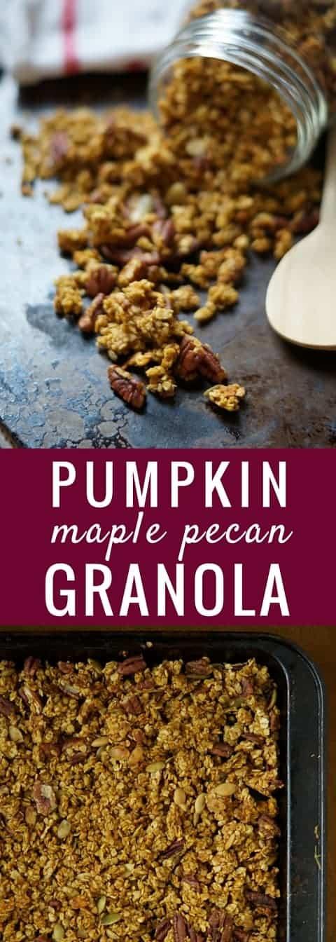 pumpkin maple pecan granola