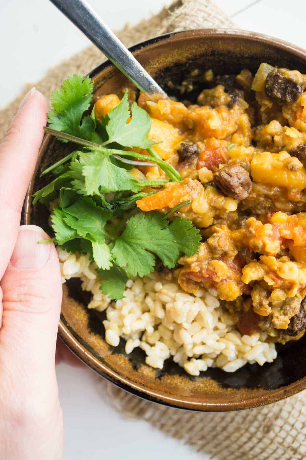 Moroccan Beef and Lentils