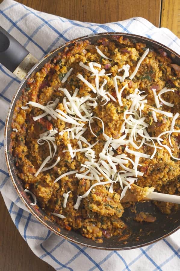 mediterranean quinoa and lentils