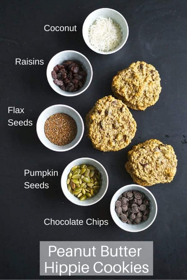 Peanut Butter Hippie Cookies