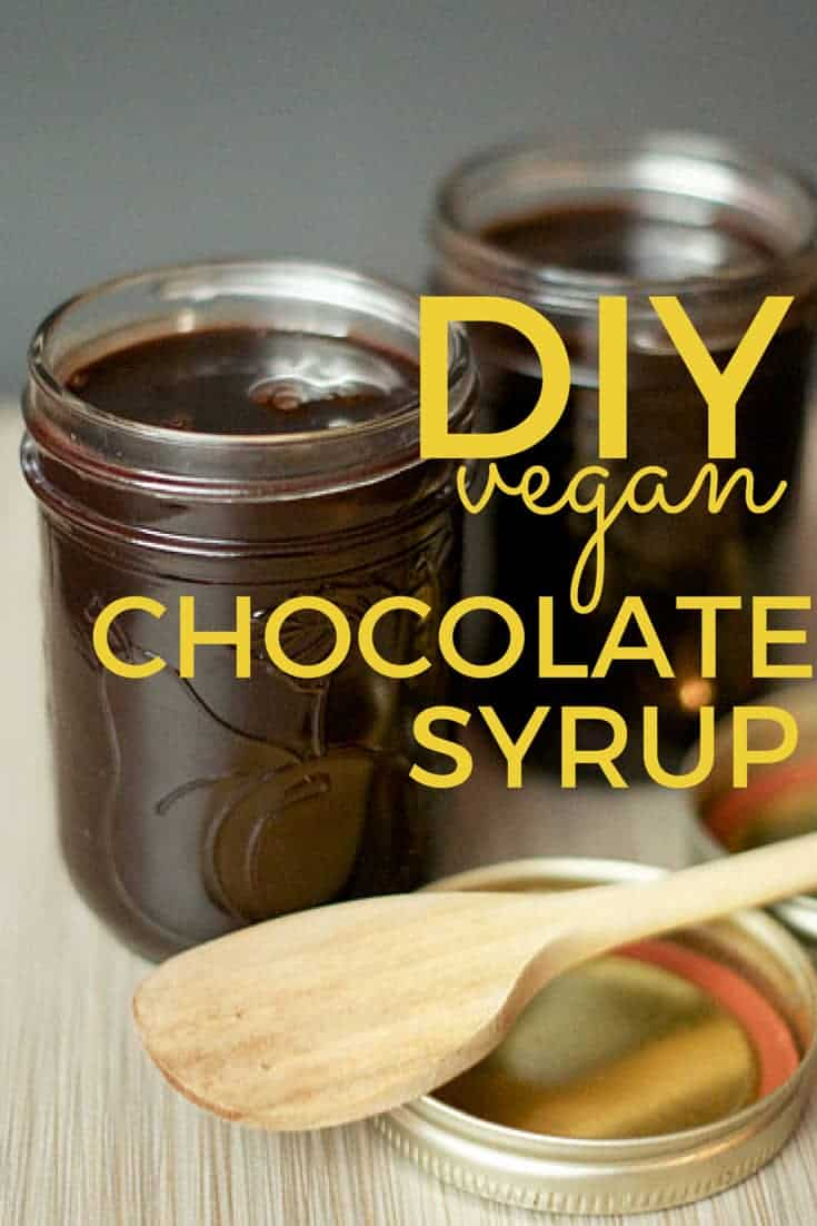 DIY vegan chocolate syrup