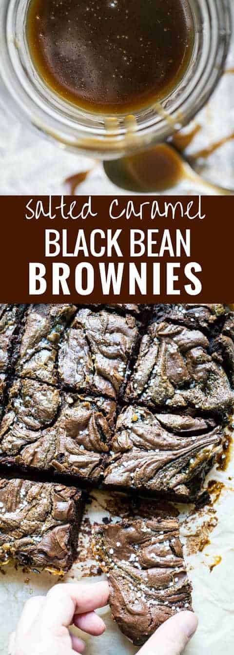 Salted Caramel Black Bean Brownies
