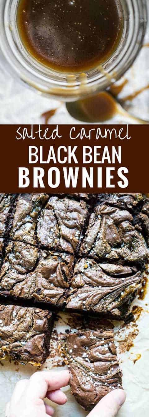 Salted Caramel Black Bean Brownies