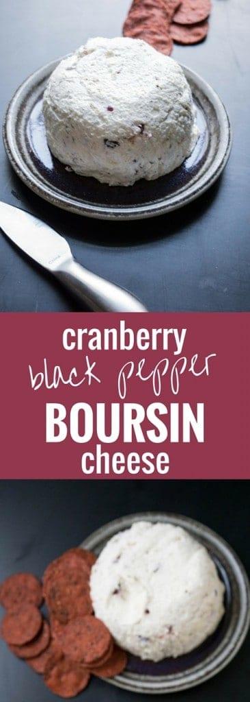 Cranberry Black Pepper Boursin Cheese