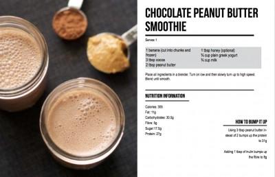 chocolate pb smoothie