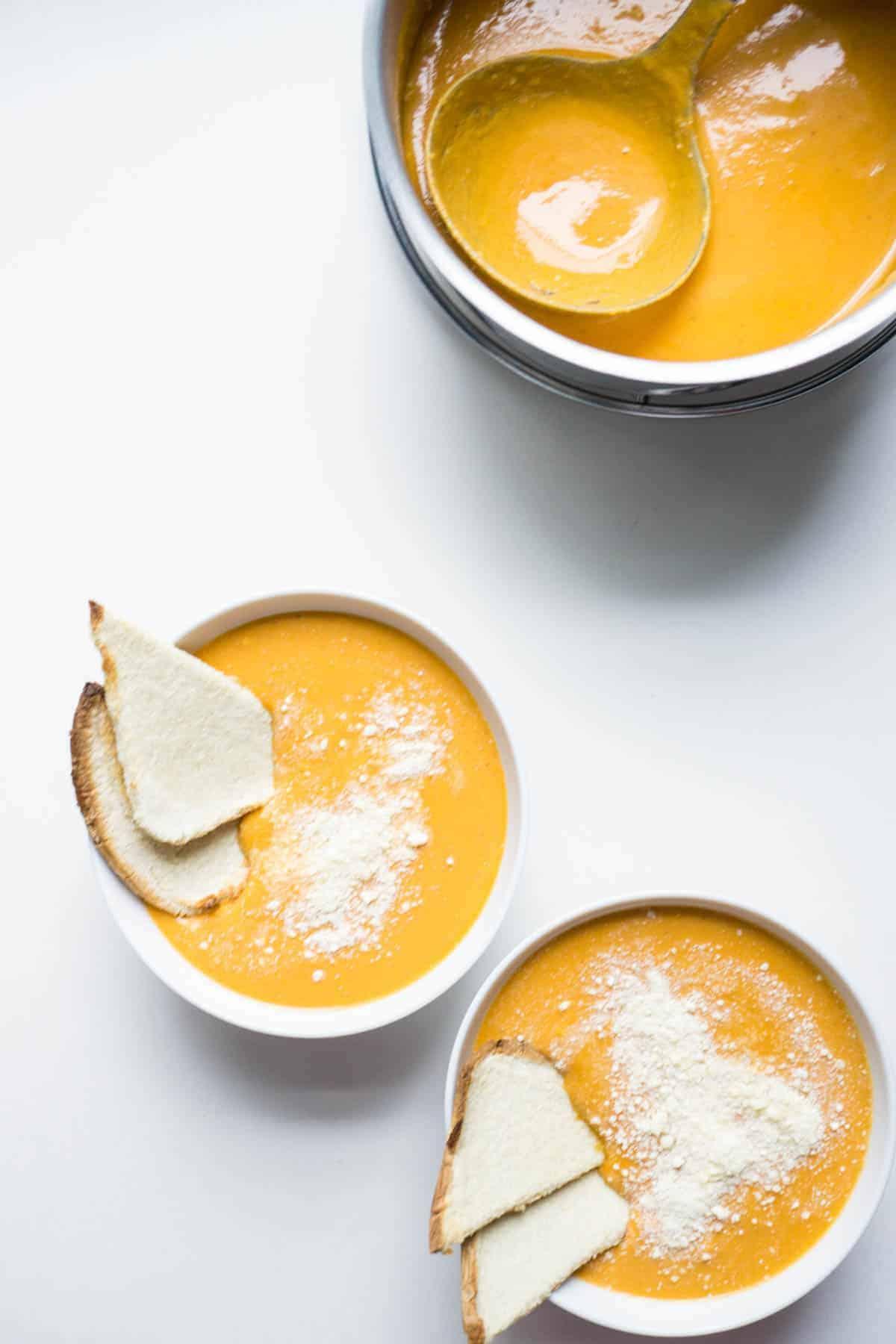 Creamy Tomato Bean Soup