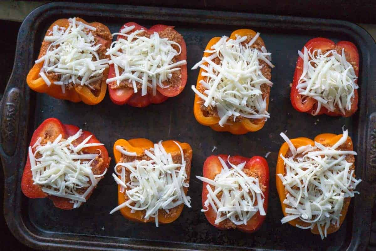Quinoa Stuffed Pizza Peppers (1 of 6)