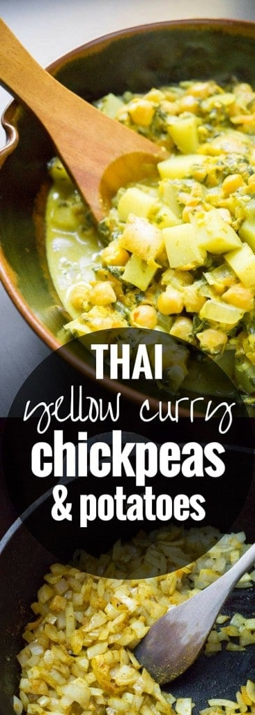 Thai Yellow Curry Chickpeas and Potatoes