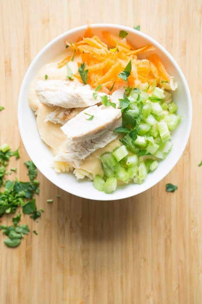 Buffalo Chicken Noodle Bowl