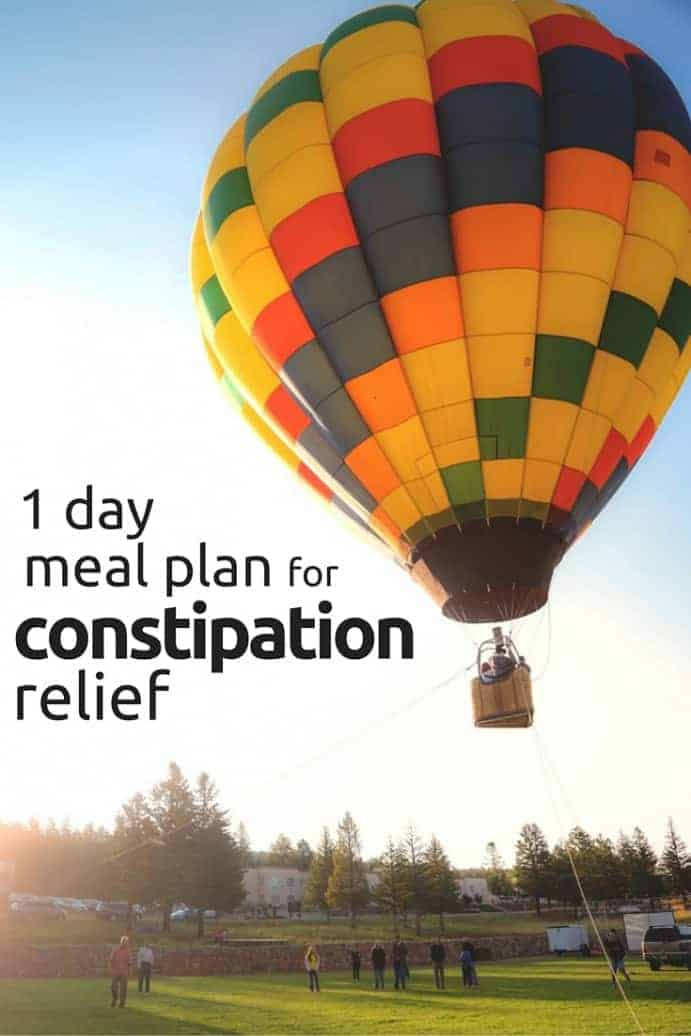 1 Day Meal Plan for Constipation Relief
