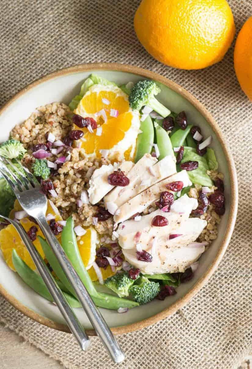 Orange Sesame Salad with Chicken and Quinoa