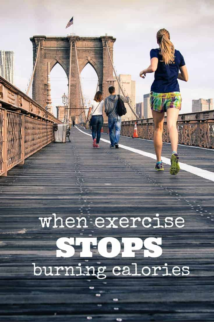 When exercise stops burning calories