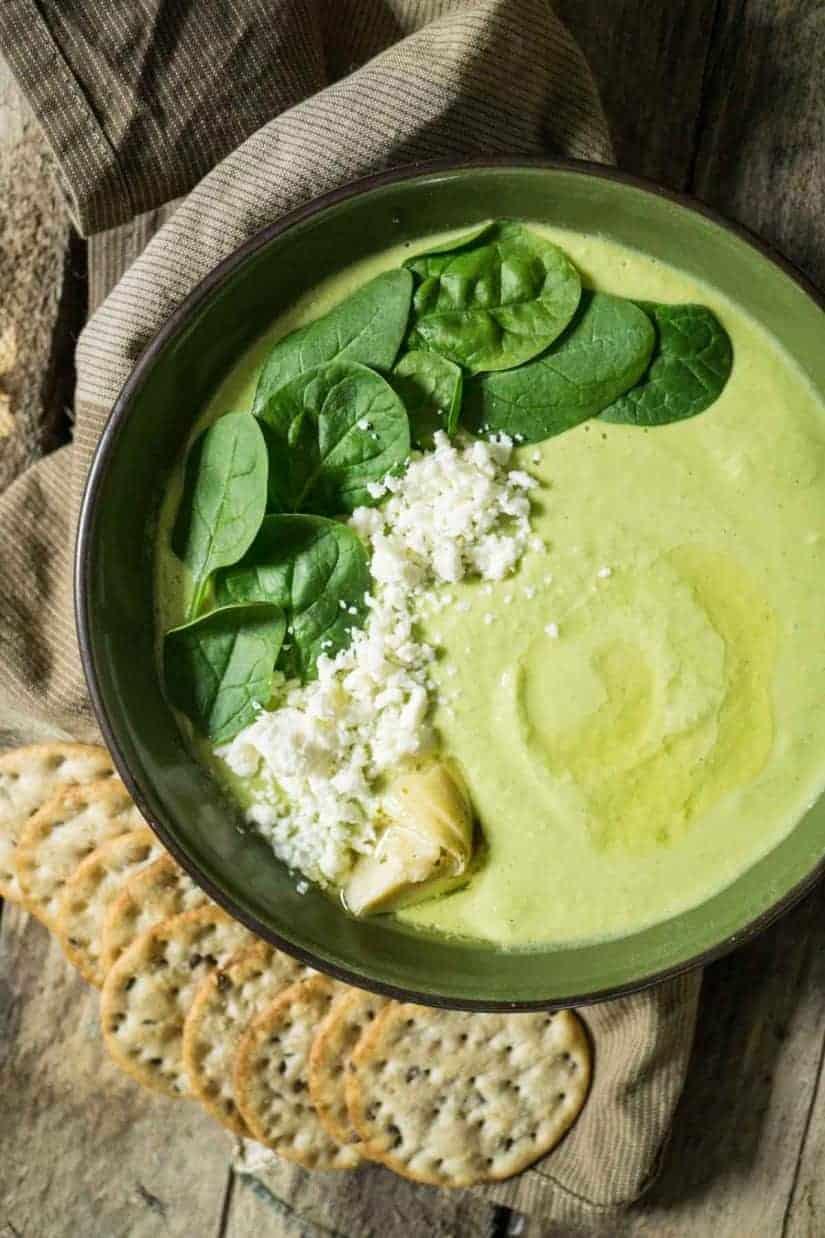 Spinach & Artichoke Hummus with Feta