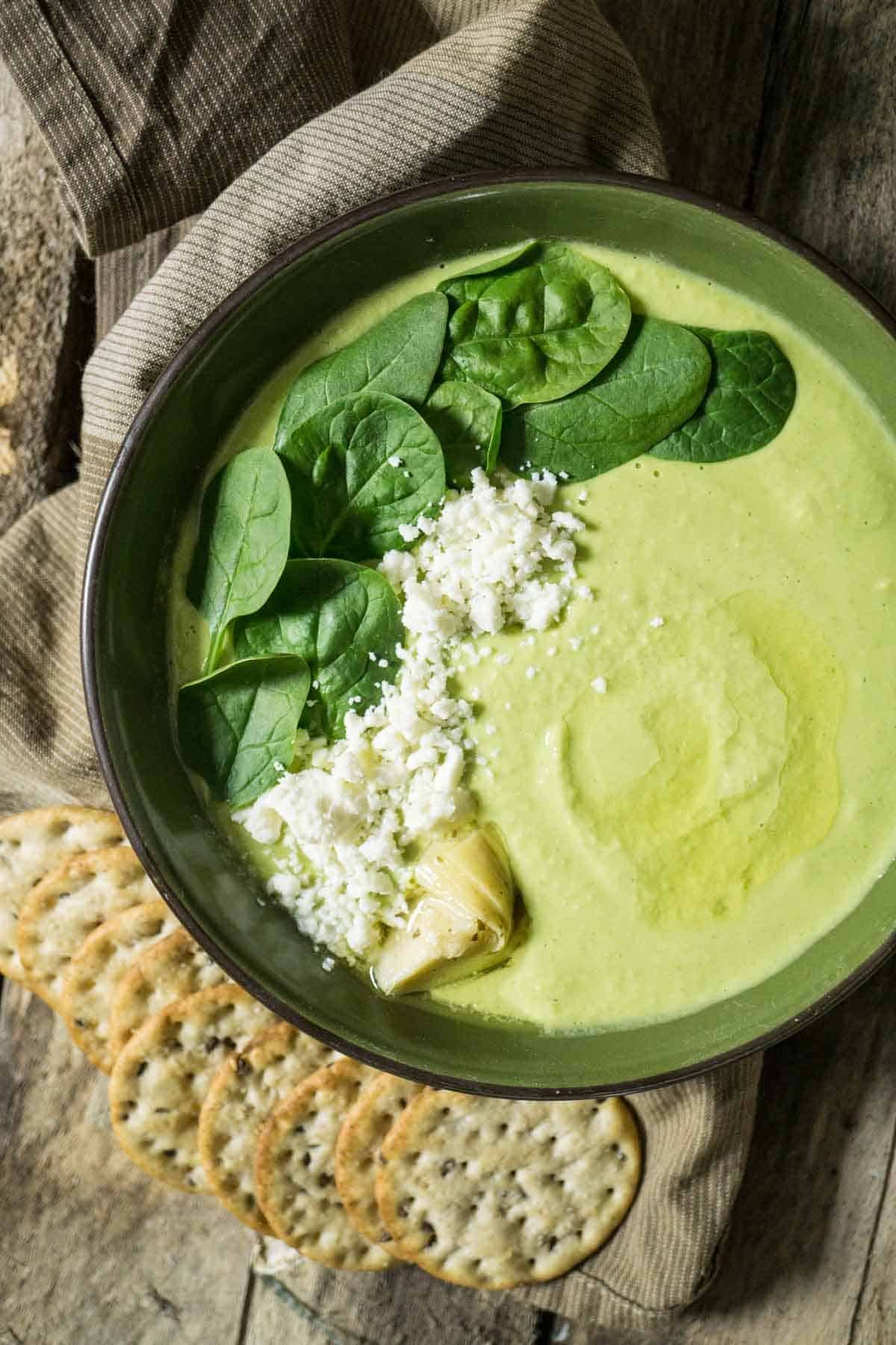 Spinach & Artichoke Hummus with Feta