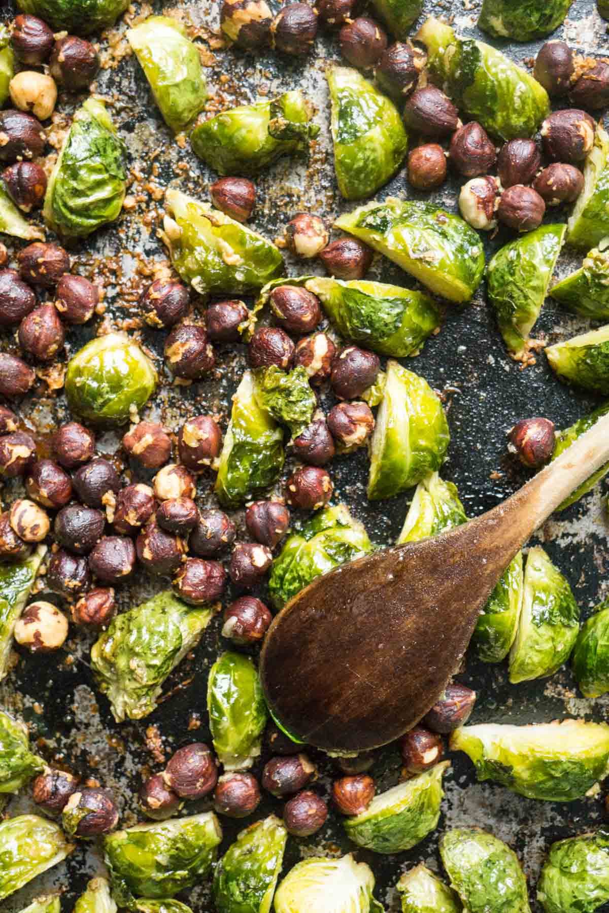 hazelnut brussel sprouts