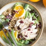 big salad: orange sesame with chicken