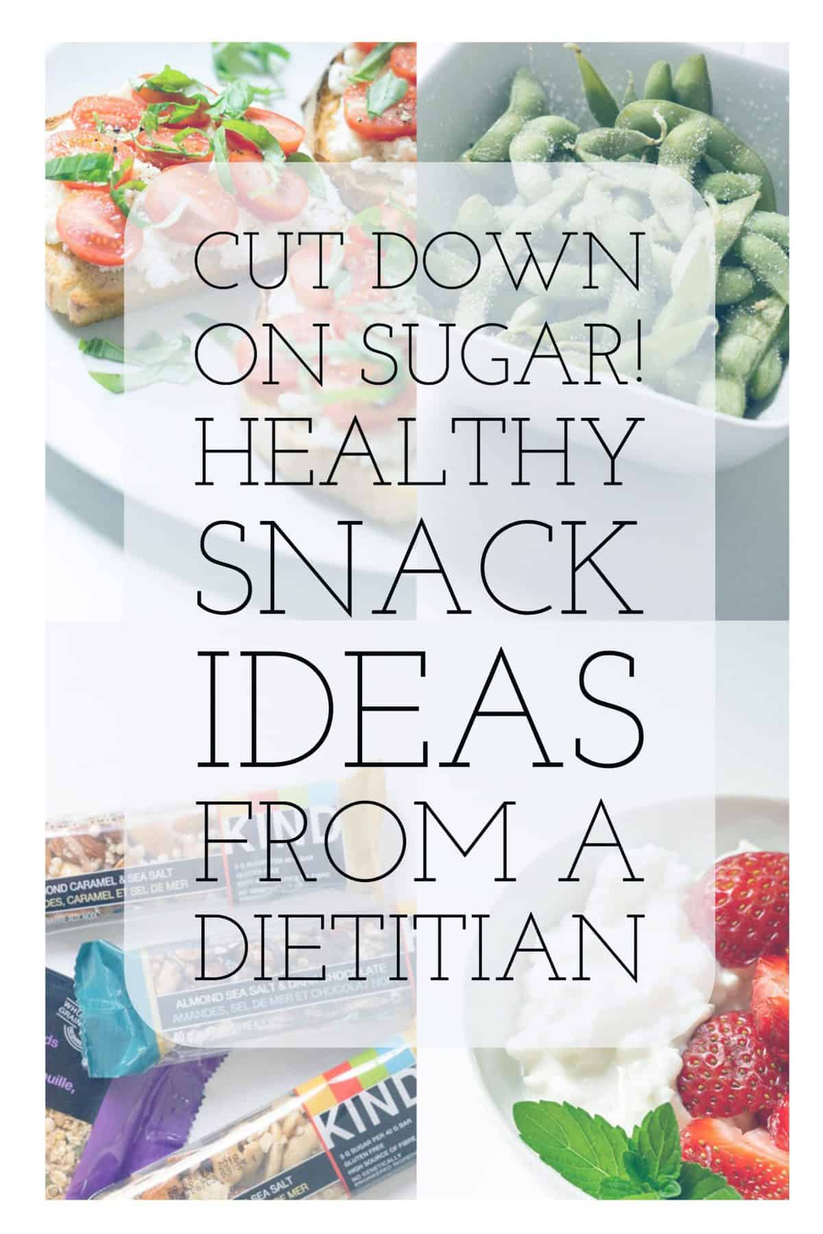 low sugar snack ideas