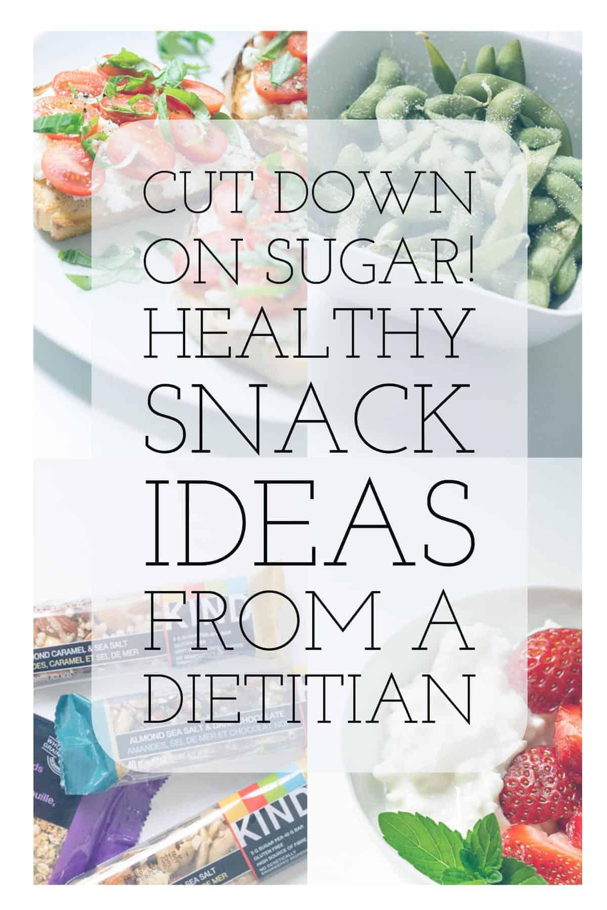low sugar snack ideas