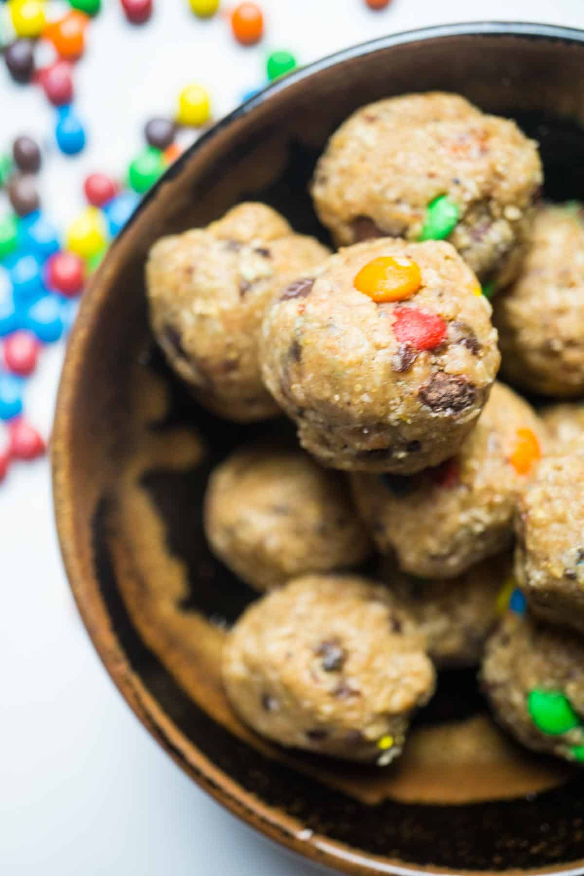 Monster Cookie Energy Balls Low Sugar No Bake Smart