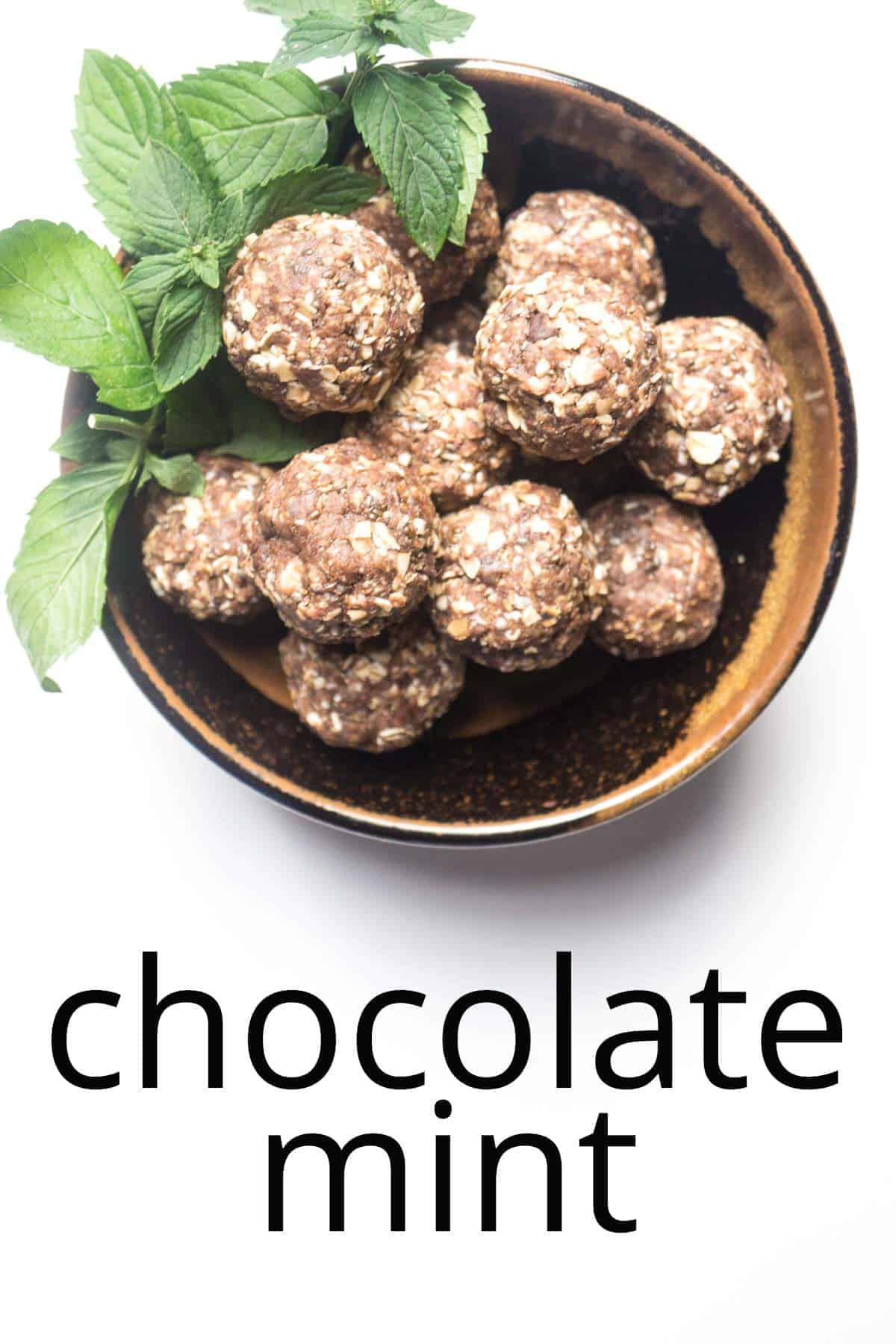 energy balls chocolate mint
