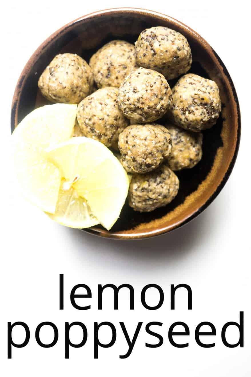 energy balls lemon poppyseed