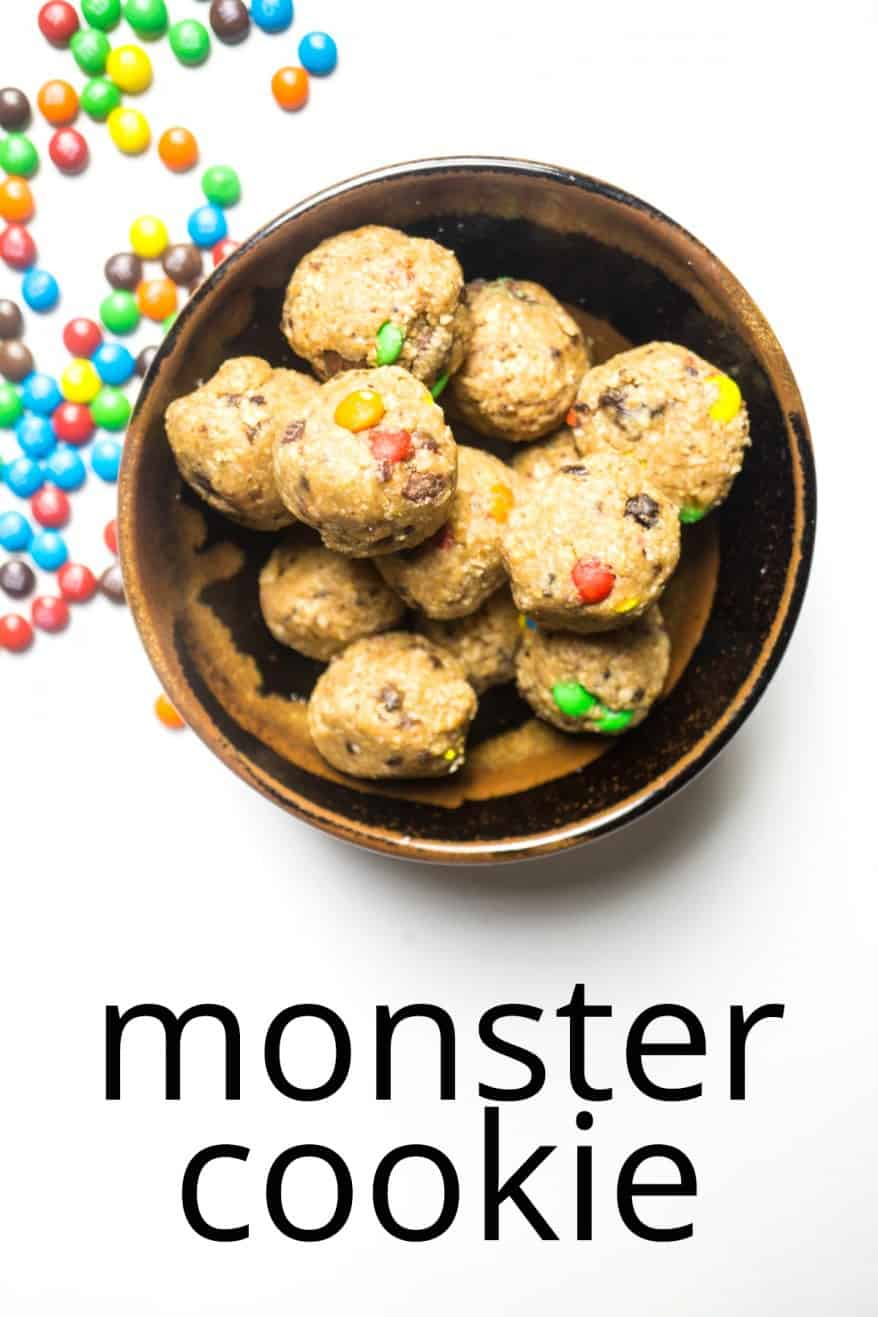 Monster Cookie Energy Balls (low sugar - no bake) - Smart ...