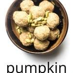 energy balls pumpkin spice