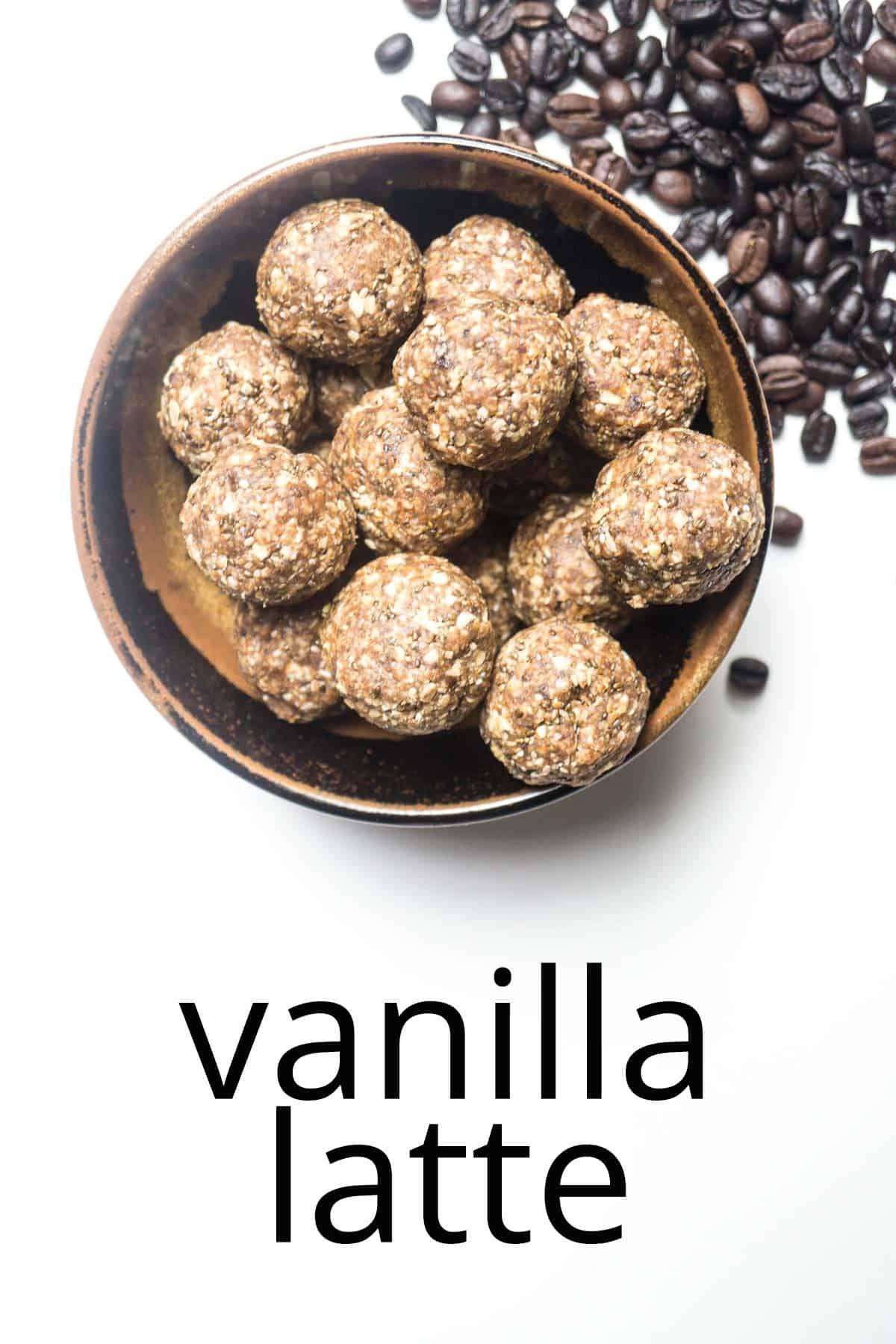 energy balls vanilla latte
