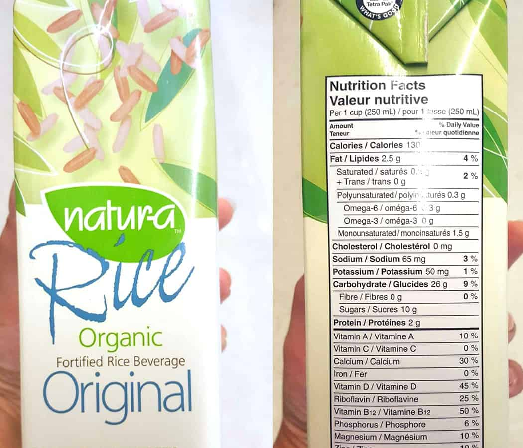 Milk alternatives -rice milk