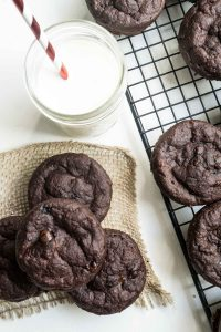 double chocolate muffins (egg-free)
