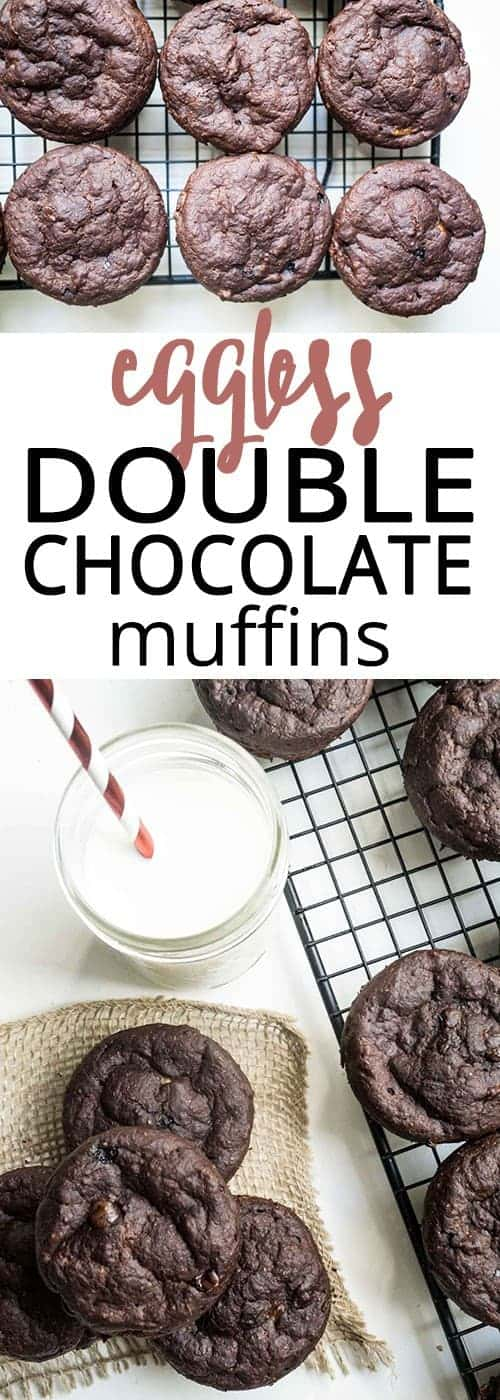 eggless double chocolate muffins