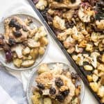 sheet pan pork and dried plums