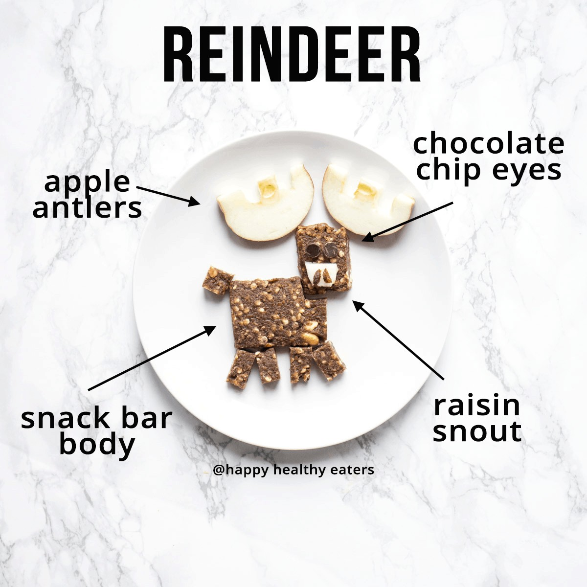 Christmas Snacks: easy and healthy (reindeer)