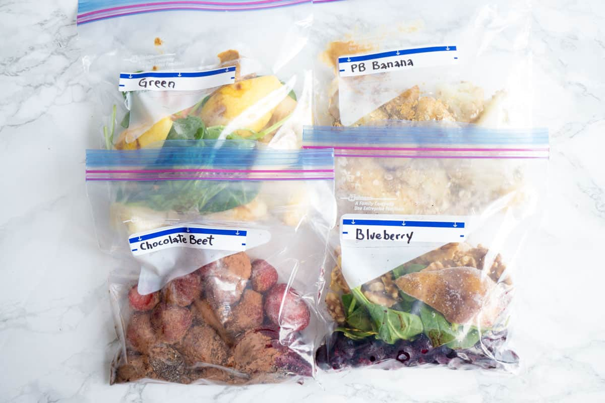 Vegetable Smoothie Freezer Packs
