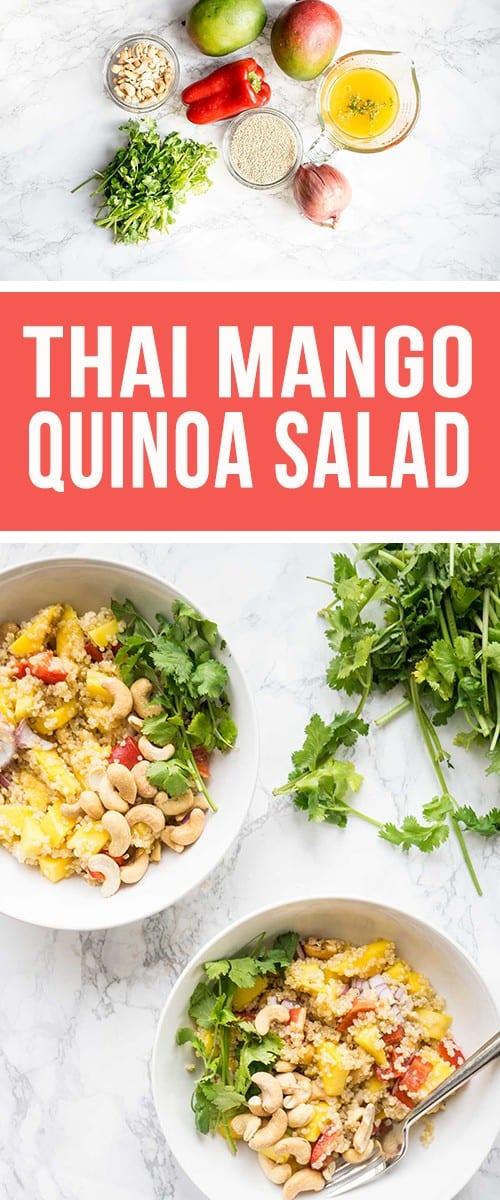Thai Mango Quinoa Salad