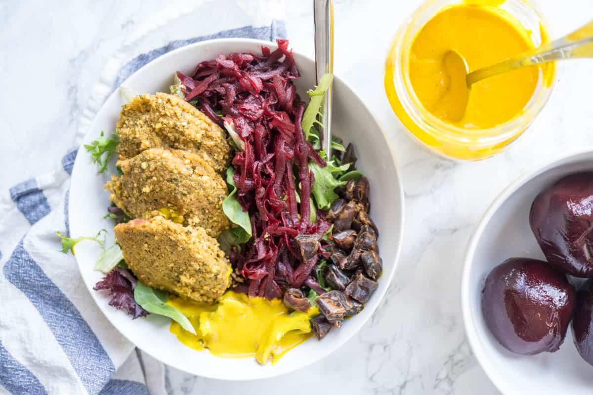 Turmeric Falafel Bowl (vegan, gluten free)